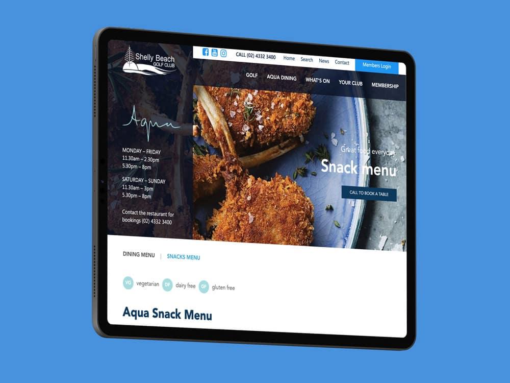 Shelly Beach Golf Club - rapid web app development - Kicking Pixels