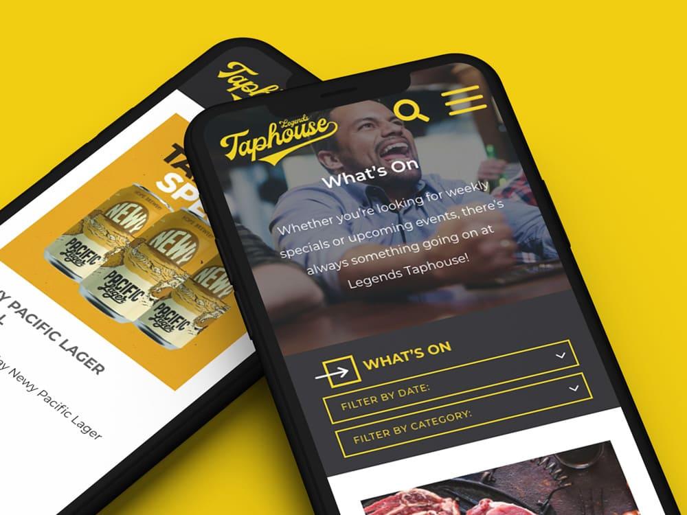 The legends Taphouse - custom web app development - custom web app development